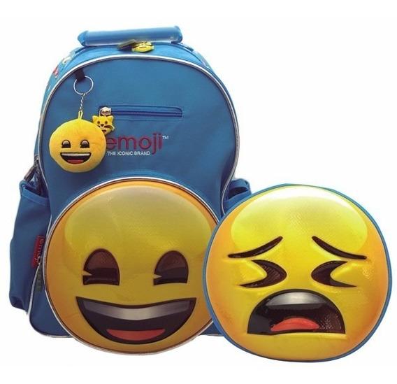 Mochila Emoji Espalda 16 Pulgadas Doble Cara Cresko