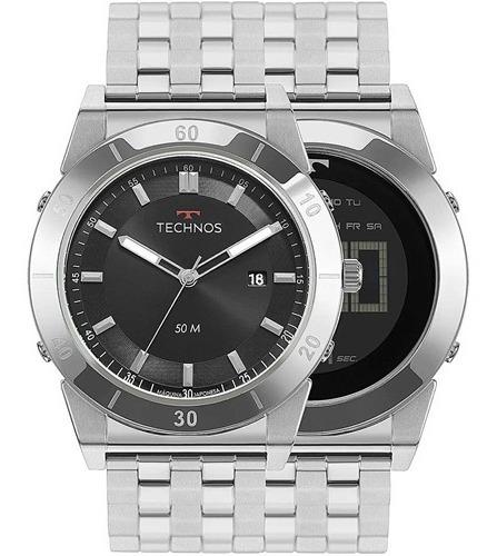 Relógio Technos Masculino 1s13cs/1p Curvas Analogo E Digital