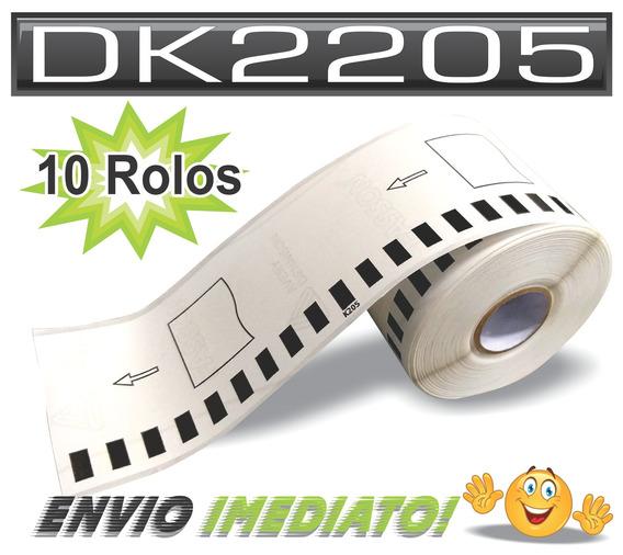 Dk 2205 Brother Etiqueta Compatível A Original - 10 Rolos