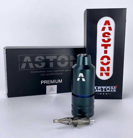 Pen Aston Big Steel Tattoo Machine Garantia Um Ano