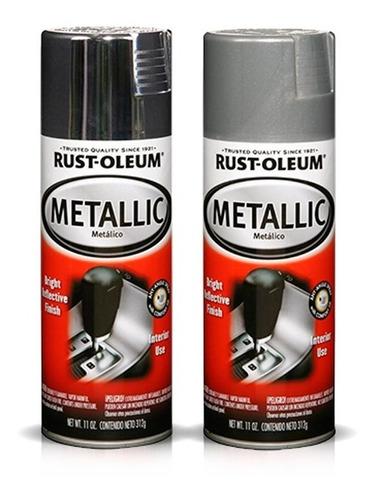 Aerosol Rust Oleum Automotive Metallic Para Interior   312gr