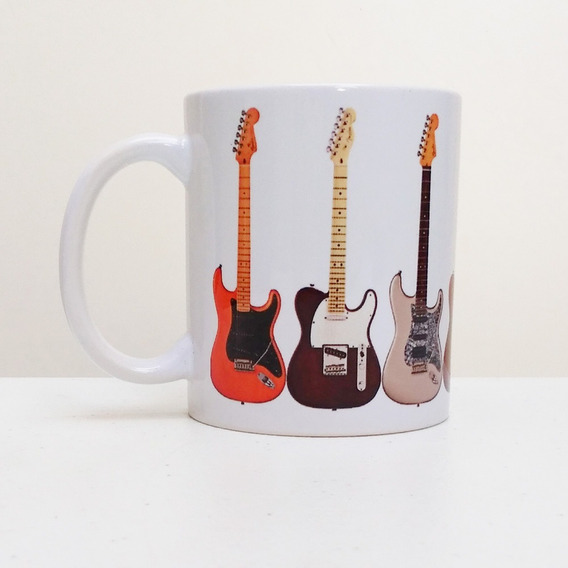 Caneca Guitarras Rock Jazz Blues 325 Ml