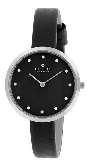 Relógio Oslo Feminino Preto Ofbscs9t0002-p1px - Promoção!
