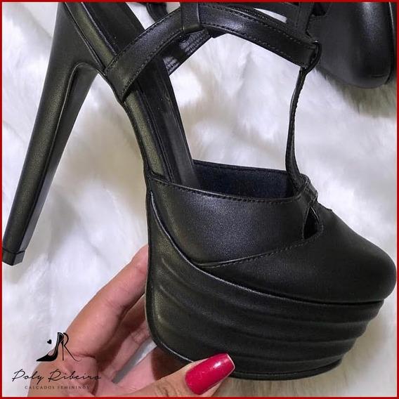 Sapato Meia Pata Salto 15 Cm Gucci Inspired Várias Cores