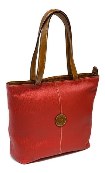Cartera Mujer Cuero Con Cierre Bolso Shopping Bag Viaje