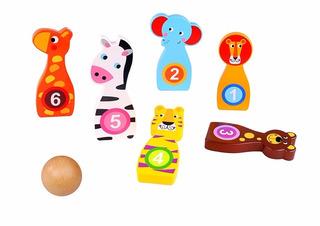 Juguetes En Madera Didácticos Juego De Bolos Niños Y Niñas