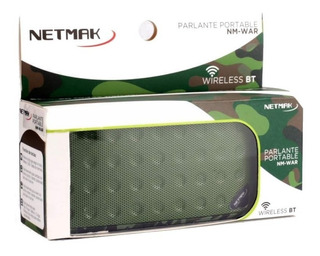 Parlante Bluetooth Netmak Nmwar Usb Tf Card Recargable Envio