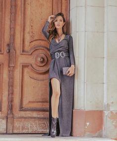 b438b978a Vestido Longo Em Malha Lurex Vestidos Feminino - Vestidos Longos ...