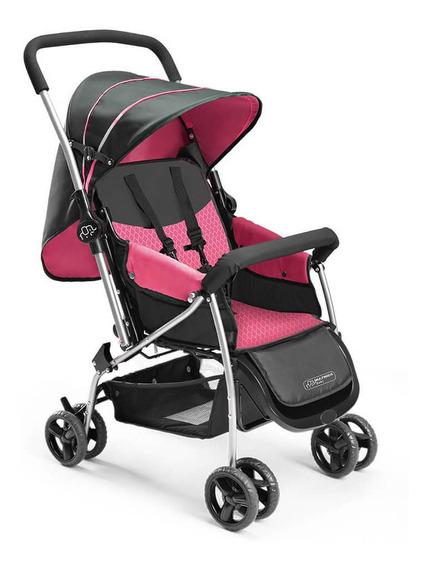 Carrinho De Bebê Berço Flip Multikids Baby - Rosa Bb504