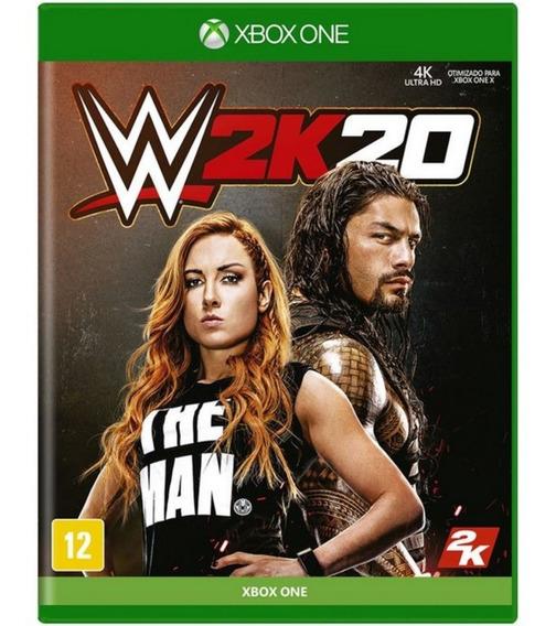 Jogo Midia Fisica Wwe 2k20 Lacrado Original Para Xbox One