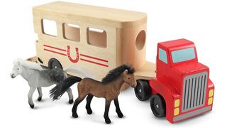 Juego Carrito Transportador De Caballos Marca Melissa & Doug