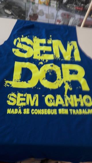 Camiseta Regata Cavada Musculação Fitness Menor Preço Blue