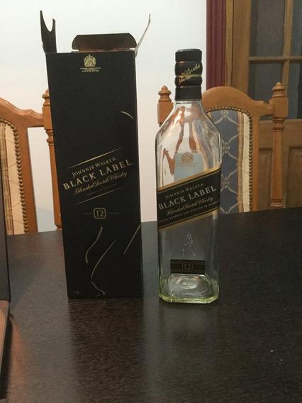 Botella Vacía Con Estuche Wisky Johnnie Walker Black Label