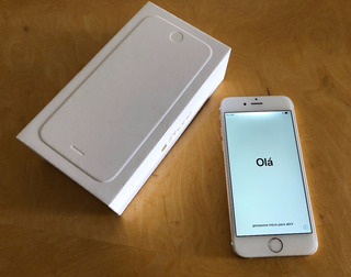 iPhone 6 Dourado Nf+capa Anti-queda+todos Acessórios