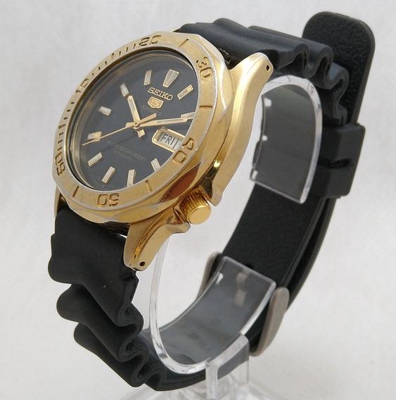 Relógio Seiko 5 Sports 7s36-02s4 Preto Lindo Perfeito Estado