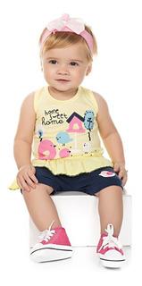 Roupa Bebê Menina Kit 10 Roupinhas Curtas De Verão Isensee