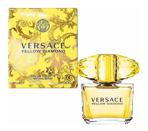 Perfume Versace Yellow Diamond Edt 90ml Original Oferta