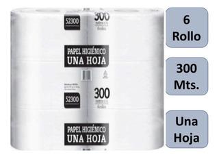 Papel Higiénico Industrial Una Hoja 300 Mts X 6 Rollos