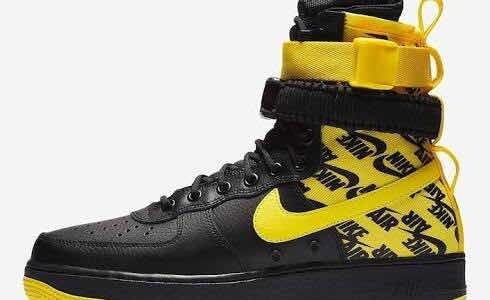 Nike Sf Air Force 1 High Black Dynamic Yellow