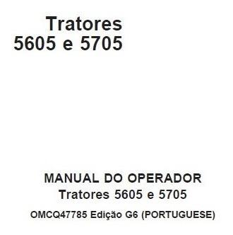 Manual Do Operador Tratores John Deere 5605 E 5705