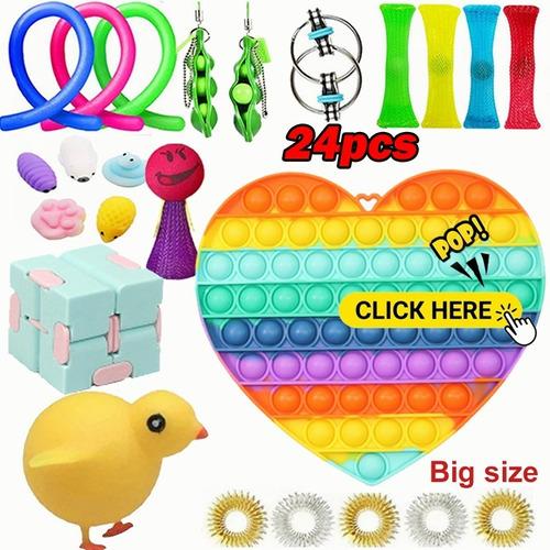 Kit De Brinquedos De Alívio De Estresse Fidget Cube