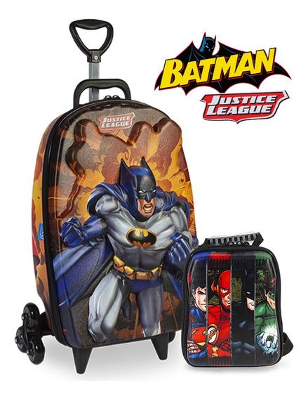 Mochila De Carrinho Liga Da Justiça Lancheira Em 3d Batman