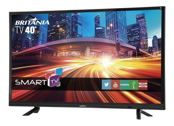 Smart Tv Britânia Led 40 Full Hd4k 4hdmi