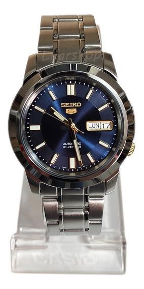 Relogio Seiko 5 Automatico Masculino Original Azul Caixa Nf
