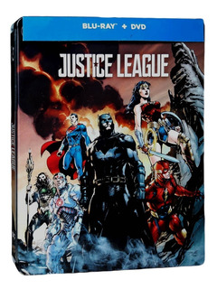 Liga De La Justicia Steelbook Justice League Blu-ray + Dvd