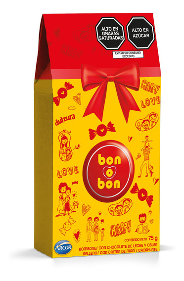 Caja Prisma Bon O Bon Leche 75g - 5 Unidades