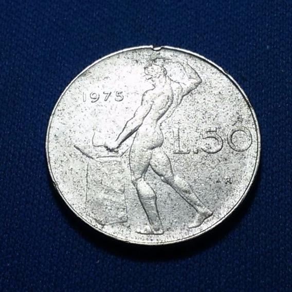 Moeda Itália .50 Lire Vulcano 75/77 Lote C/2 Moedas R I021