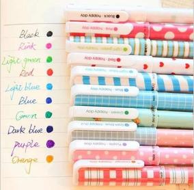 Set Lápices Tinta Gel Colores Varios