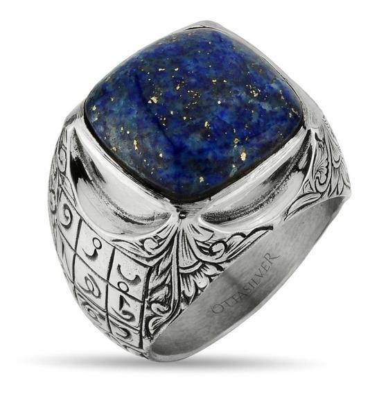 Anillo Tipo Otomano Lapis Lazuli