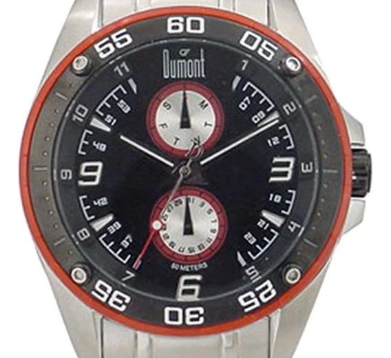 Relógio Dumont Masculino Casual Prateado Sz20128v