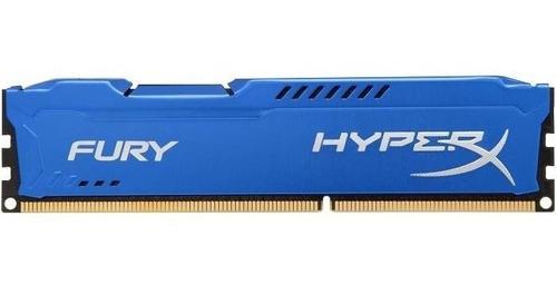Imagen 1 de 6 de Memoria Kingston 4gb Ddr3 Hyperx Gamer 1600 Hx316c10f Tranza