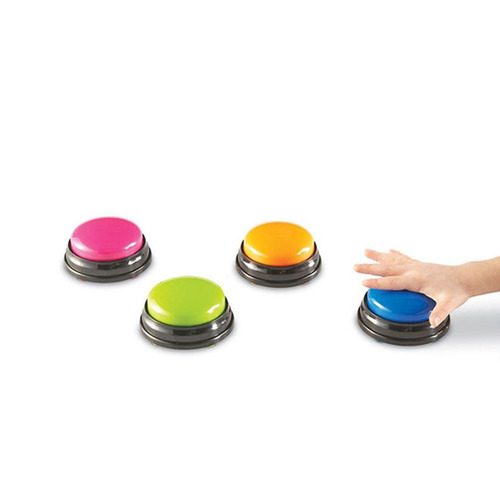Verde bot/ón de Sonido grabable Azul Rosa Bedler Bot/ón de Sonido de grabaci/ón de Voz Easy Carry de tama/ño peque/ño para ni/ños Botones interactivos de Respuesta de Juguetes Naranja