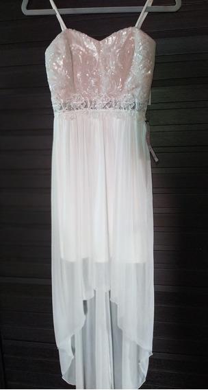 Vestido De Fiesta O Novia Blanco Nuevo Importado Macy