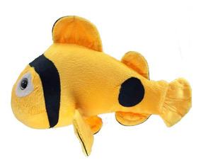 Peixe Amarelo Bicho Pelucia 34 Cm Antialérgico Lavável