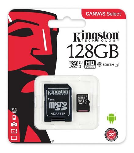 Micro Sd Kingston Clase 10 128gb 100mb/s *itech