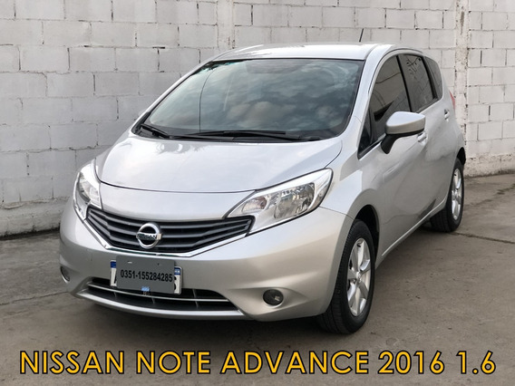 Nissan Note Advance 1.6 2016 *financio Un 70% *recibo Menor*