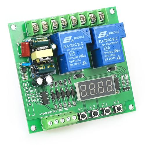 m/ódulo MCU de bot/ón de placa de disparo de pulso bajo autoblocante biestable M/ódulo de rel/é de 2 canales DC 12V