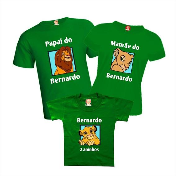 Camisetas De Aniversário Rei Leão - Simba Sarabi Mufasa