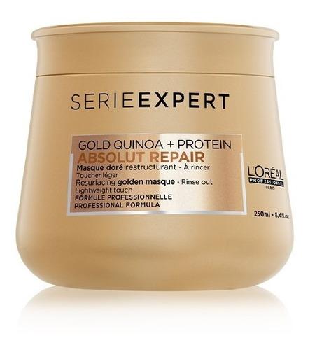 Máscara L'oréal Professionnel Gold Quinoa + Protein - 250 Ml