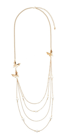 Nice® Collar Dahlia 4 Baños De Oro 18k