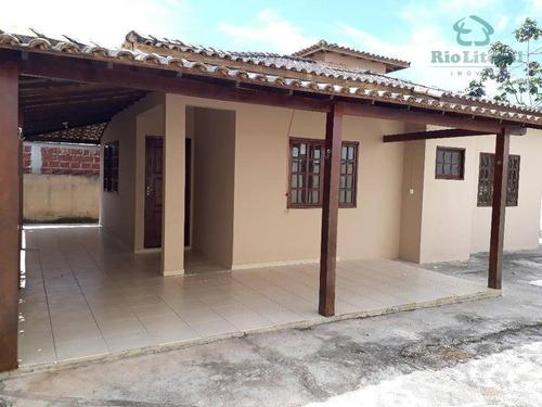 A Imobiliária Rio Litoral Oferece Casa Para Venda No Bairro Village - Rio Das Ostras/rj. - Ca0169