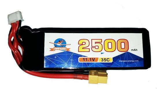 Batería Lipo Litio 11.1v 2500mah 35c Drones Multi Ficha Xt60