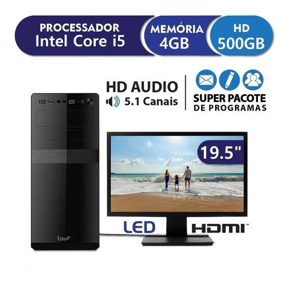 Cpu Pc Intel Core I5 + 4gb + Hd 500 + Monitor 19,5 Promoção!