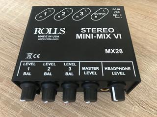 Mixer De Linea Rolls Mx28, 3 Canales Estéreo
