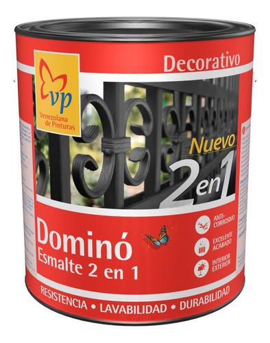Imagen 1 de 6 de Pintura Dominó Esmalte 2-1 Brillante Negro Carbon Vp 1 Galón