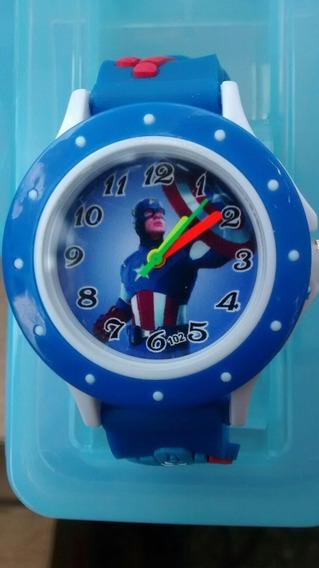 Relógio Infantil Avengers Os Vingadores Marvel
